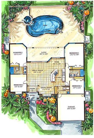 Basement Home Plans - Donald A. Gardner Architects' Collection of