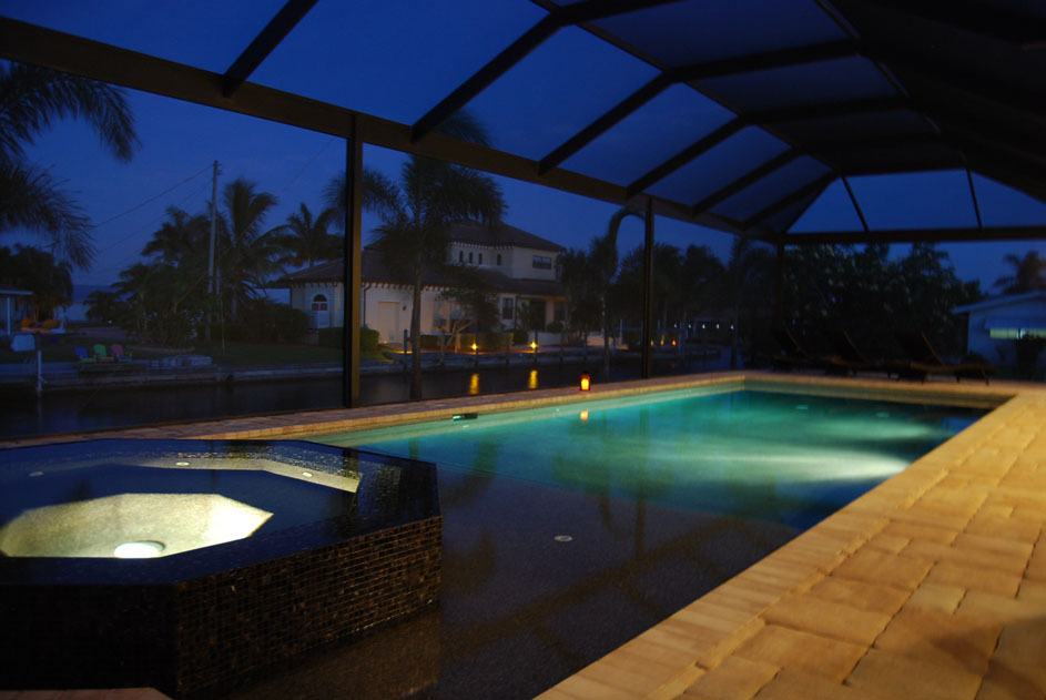 House Aruba Pool at Night